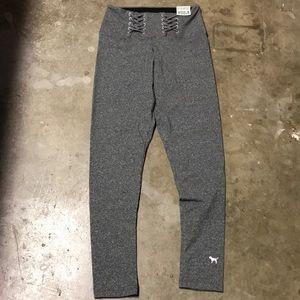 NWT Victoria's Secret PINK yoga pants. Gray.  Med.